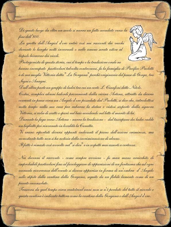 Angiol d'oro pergamena